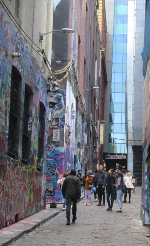 melbourne cbd image of hosier lane, home city of wordpress website devlopers